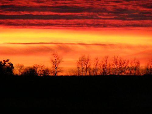 Ciel de janvier 2008 (photo prise sur le terrain)