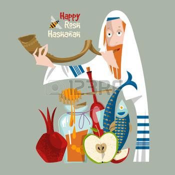 43775595-bonne-hachana-roch-nouvel-an-juif-orthodoxe-juif-d-tient-shofar-grenade-pomme-miel-poisson-vin-vecto.jpg