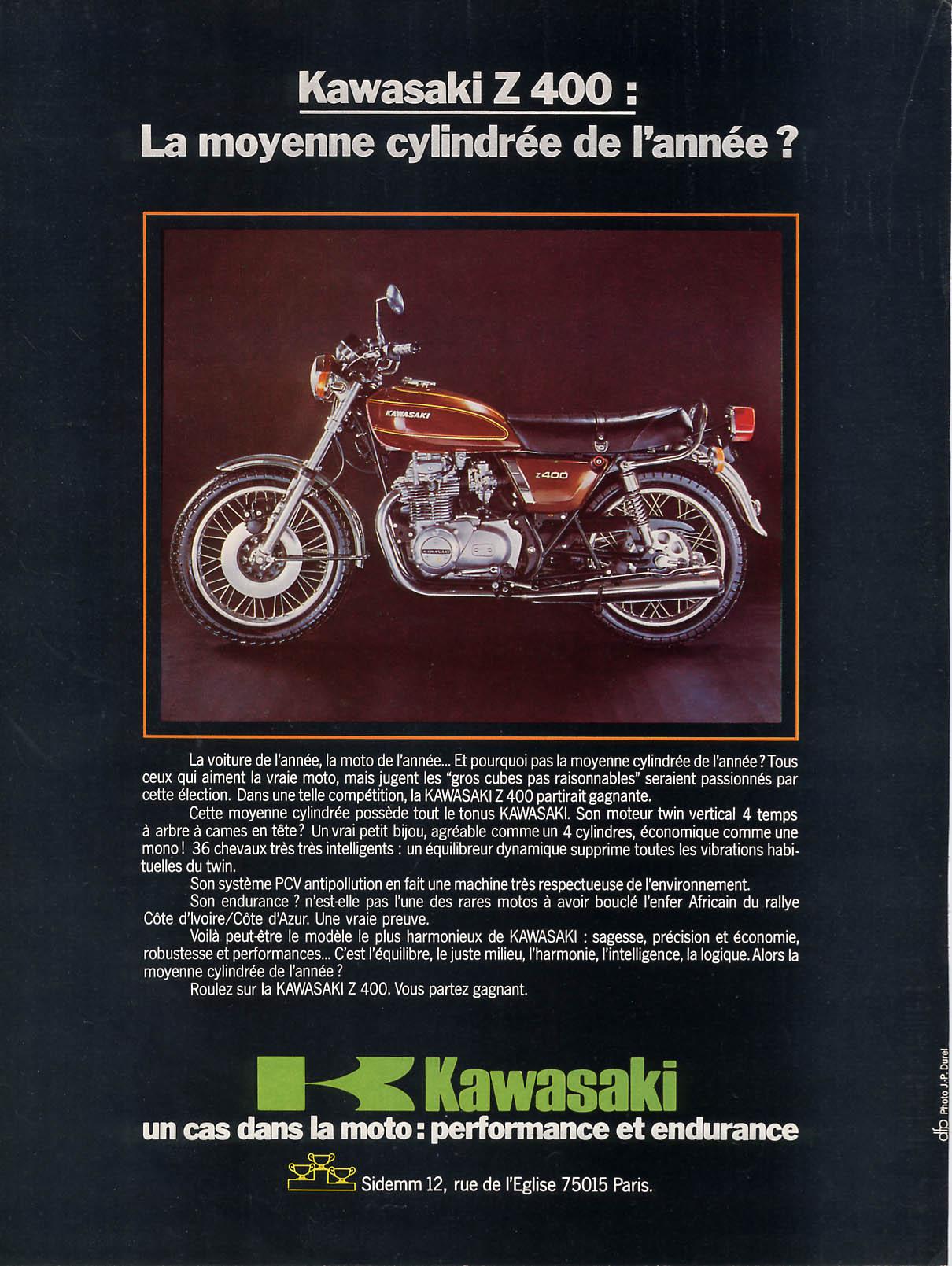 brochure kz400 marron  france 1976.JPG