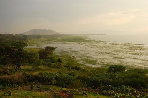 Lac Awasa au soleil couchant - Octobre 2010