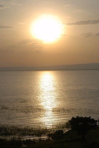 Coucher de soleil sur le lac Awasa - Octobre 2010