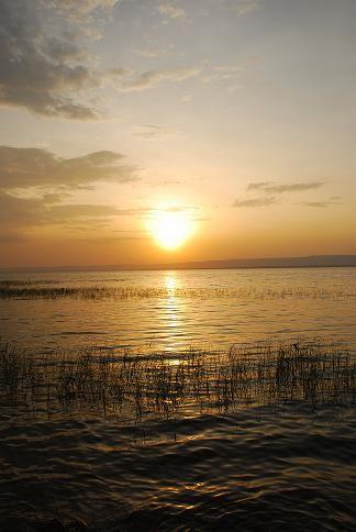 Coucher de soleil - Lac Awasa - Octobre 2010