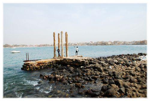 Jetée - vue sur Dakar