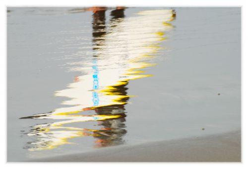 Jardin des vagues - jeux de reflets
