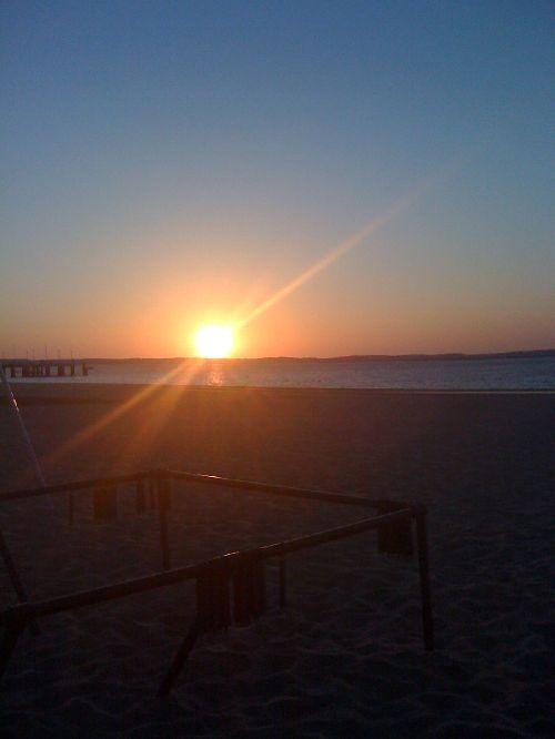 coucher de soleil jetée Thiers...