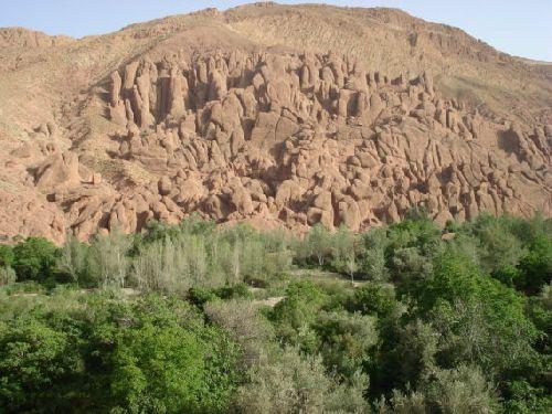Mont Surnommé « Pattes de Singe » - Vallée de Dadès .  Province « Préfecture » de Ouarzazate  -  1