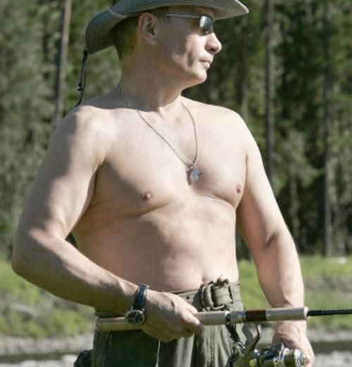 05.08.2009 - Image Insolite - Vladimir POUTINE : Montrer ses intentions