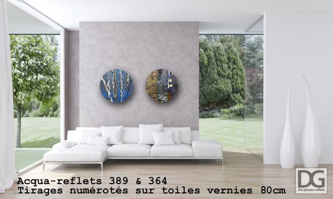 Acqua-reflets 389 et 364 in situ