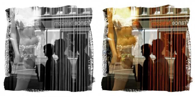 RF U11, août 2008, une première photo qui préfigure la série Reflets de femmes qui apparaitra en 2017