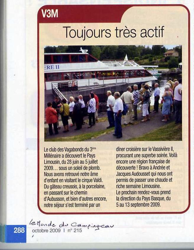 0001. Juin 2009. Limousin. Le Monde du CC octobre 2009 1.jpg