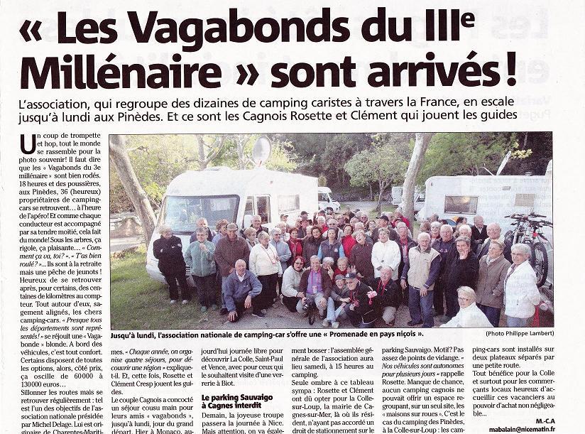 0014 Nice Avril 2012. Sortie à Cagnes-sur-mer (La Colle-sur-Loup) Nice-matin du 26 avril 2012 2.JPG