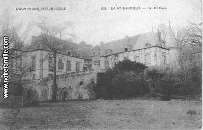 carte postale du chateau de travers