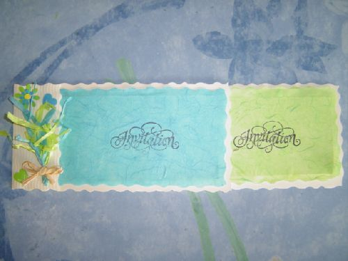 Mariage Nathalie/Erwan ... 3.10 le fp... (+ enveloppe 0.30 décorée de 2 papillons)