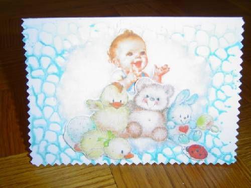 Faire part naissance LIBRE - 2.20 (coton/relief) enveloppe + 0.30
