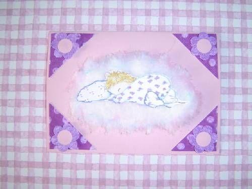 Fp naissance LIBRE  (tite fille) (relief/coton/...) 2.30 pièce (+0.30 enveloppe)