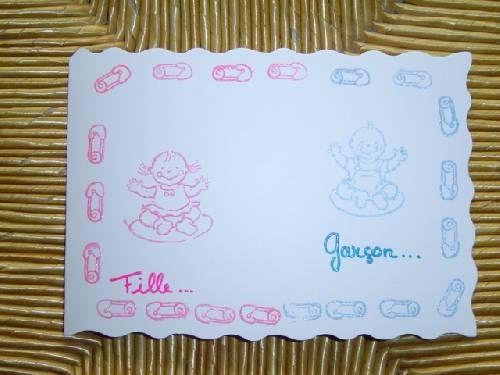 fp naissance LIBRE - 2.30 pièce (technique embossage) 2.30 pièce (+0.30 enveloppe)