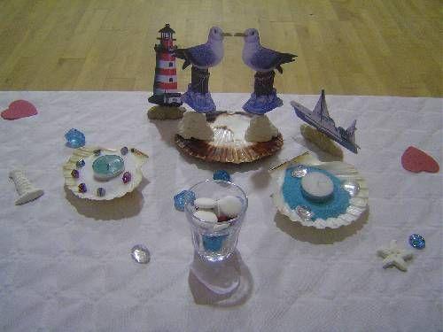 centre de table... complet 25 euros... thème pêche...