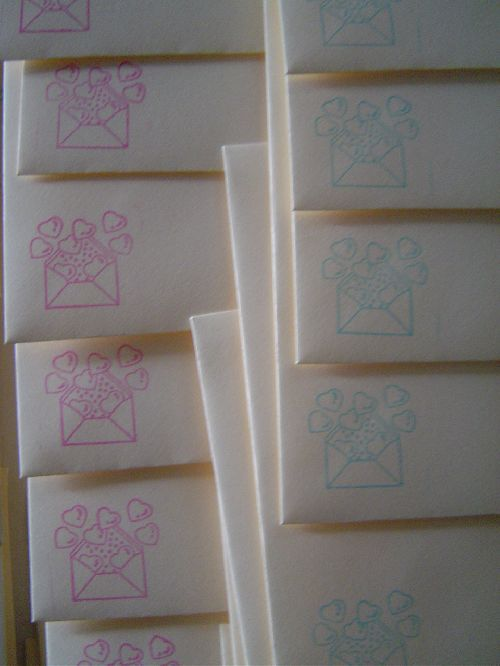 Exemple d'enveloppes décorées 0,25