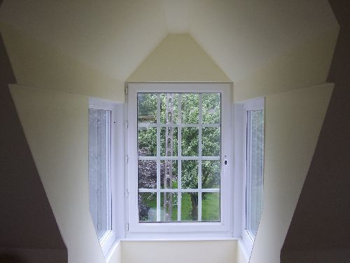 Dormer window with sidelights
