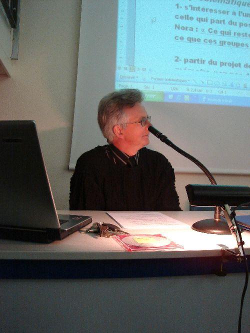 Conférence du 12 décembre 2009 par Alain Ponchel: le conférencier