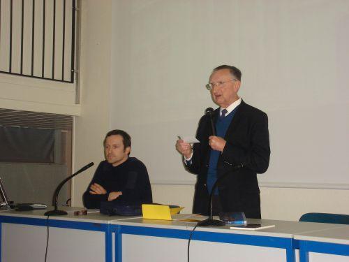 Conférence de Guillaume Mazeau du 13 mars 2010 : Le président présentant le conférencier
