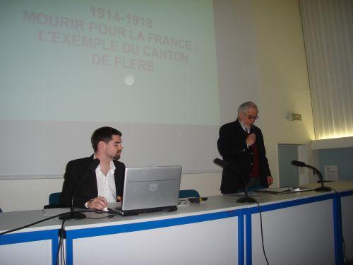 Conférence de Jean-Christophe Ruppé du 10 avril 2010 : la présentation du conférencier du jour par le président.