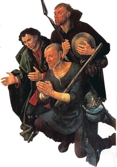 hugo van der goes_l'adoration des bergers détail les bergers arrivant 1476   BD.jpg