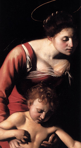 Caravaggio_Madone au serpent-gros plan   BD.jpg