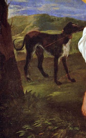 Poussin Endymion dét le chien derrière Séléné   BD.jpg