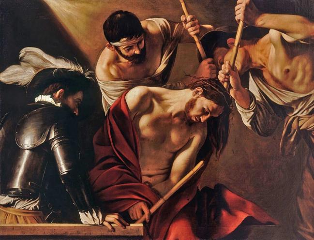 3 Caravaggio_Couronnement d'épines (1602)  KHM   BD.jpg