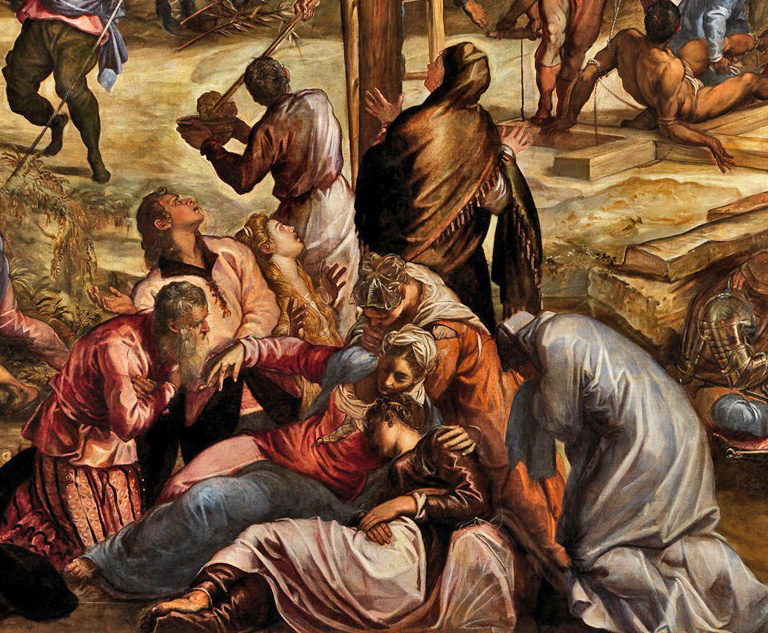Tintoretto_crucifixion - dét centre Pâmoison de Marie.jpg