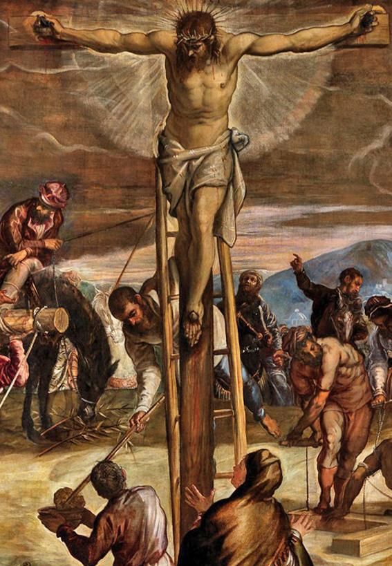 Tintoretto_crucifixion - dét centre Jésus en croix.jpg