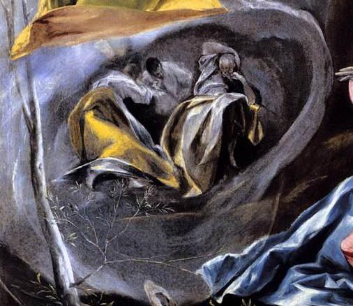 8  El Greco_Agonie au jardin Toledo (1590)  Apôtres foetus  BD.jpg