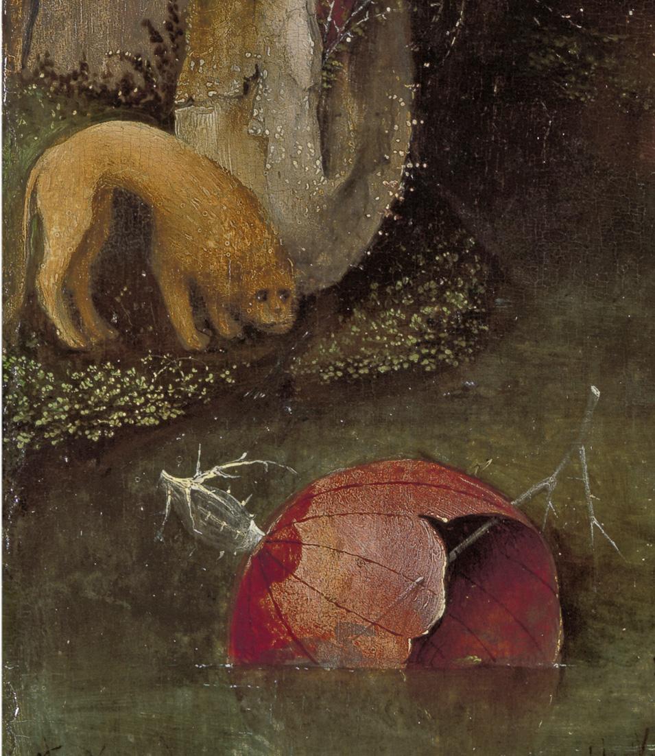 03-Bosch_St Jérome en prière - Gand   Son lion bien intrigué.jpg