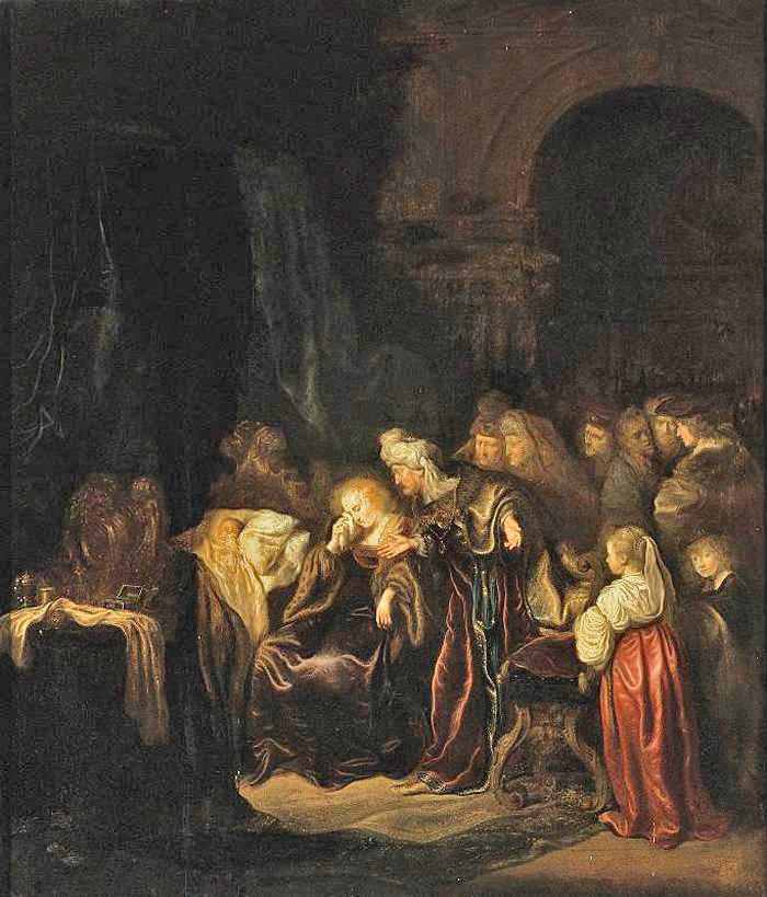 4 - Salomon_Koninck_Batsheba pleure la mort de son fils_1640 Coll.   BD.jpg