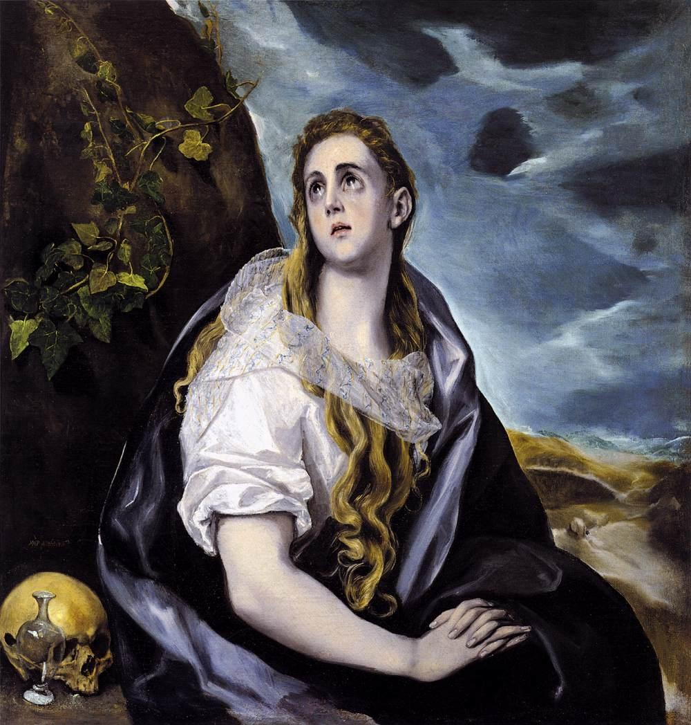 6 - Greco_Mary_Magdalen_in_Penitence-1578-80-II_Worcester Mass.jpg