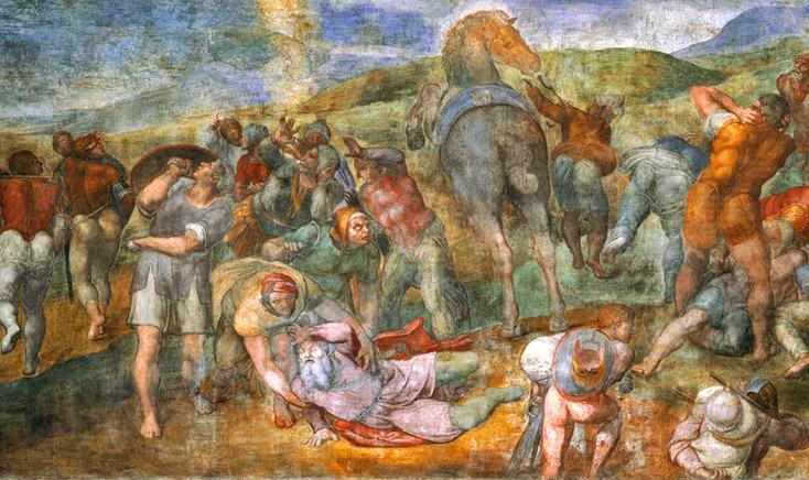 03-Michel Ange chapelle pauline - Paul  et soldats..jpg