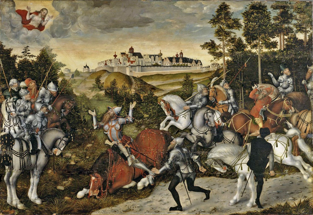 12b-Cranach the Younger (1515–1586) The Conversion of Saul (1549) Nurbg  BD.jpg