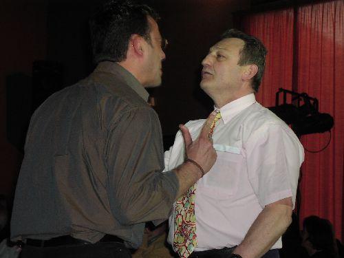 2004 / Fabrice, le mari, se battant avec Manu, le jeune homme