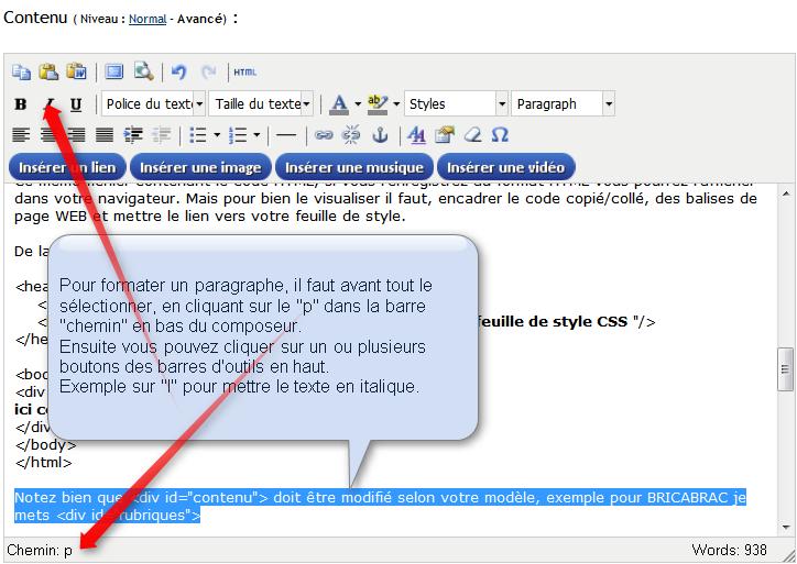 Formatage   texte