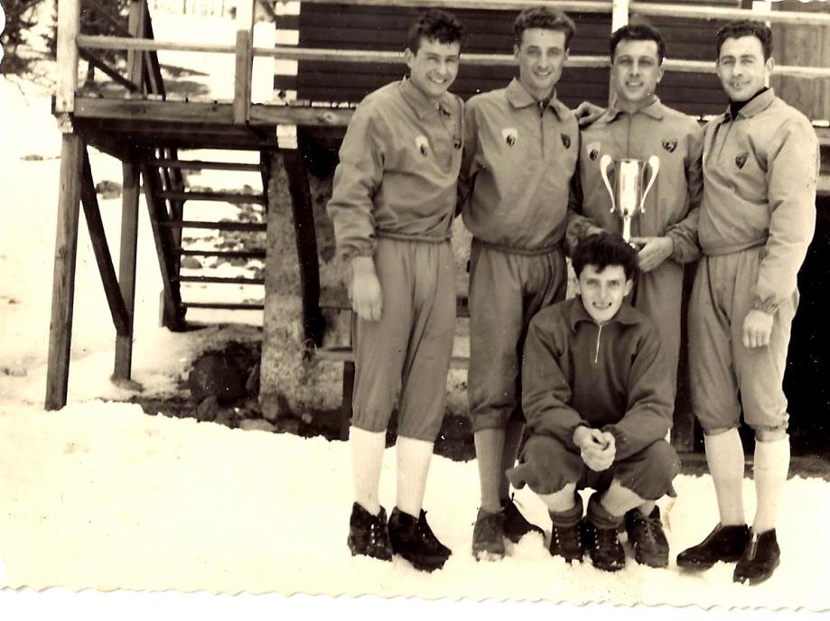 Saintjarraux de l'equipe de ski de fond de la SAM (Ski Alpin Murois)Aimé melmoux-Michel Baret-René Melmoux-Maurice Pellissier.jpg
