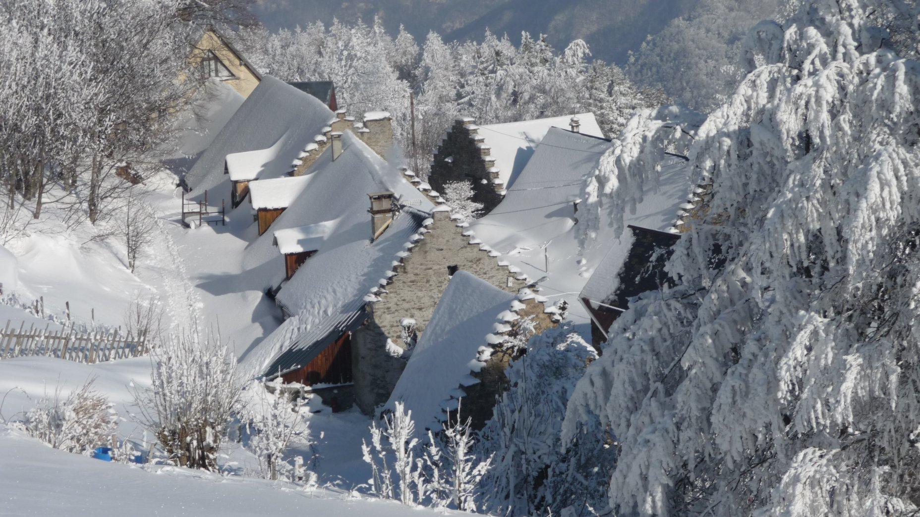 Les Arnauds sous la neige