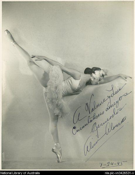 Alicia Alonso en 1945