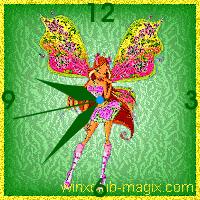 winx clock flora believix horloge