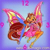 winx clock flora enchantix horloge