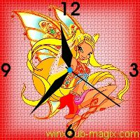 winx clock stella enchantix horloge