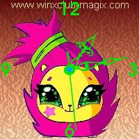 winx clock herisson pet