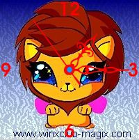 winx clock lion pet