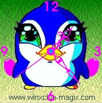 winx clock pingouin pet