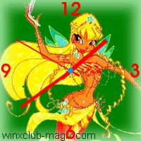 winx clock stella sirene mermaid